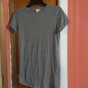 Gray T-shirt dress